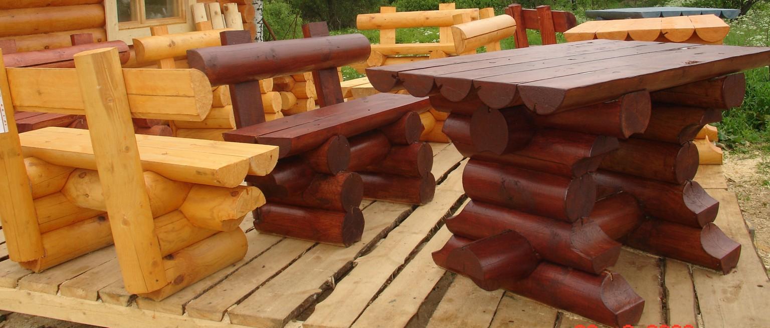 Столы из бревна своими руками фото